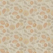 Pumpkin Floral Decorator Fabric by Fabricut