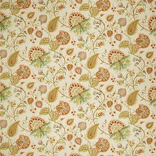 Apricot Floral Decorator Fabric by Fabricut