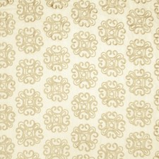 Natural Embroidery Decorator Fabric by Fabricut
