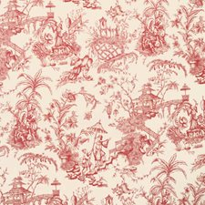 Crimson Asian Decorator Fabric by Vervain