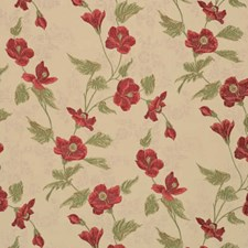 Claret Floral Decorator Fabric by Vervain