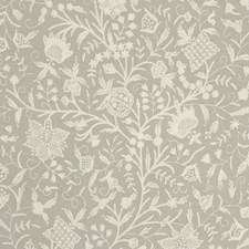 Linen Floral Decorator Fabric by Vervain