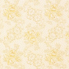 Grapefruit Floral Decorator Fabric by Vervain