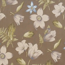 Mink Floral Decorator Fabric by Vervain