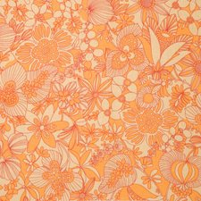 Persimmon Floral Decorator Fabric by Vervain