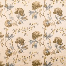 Aqua Stone Floral Decorator Fabric by Vervain