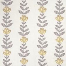 Lemon Embroidery Decorator Fabric by Stroheim