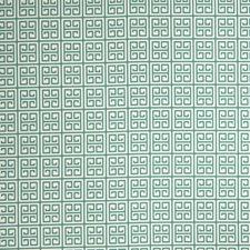 Turquoise Geometric Decorator Fabric by Stroheim
