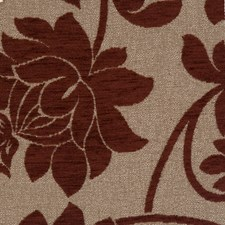 Burgundy Floral Decorator Fabric by Trend