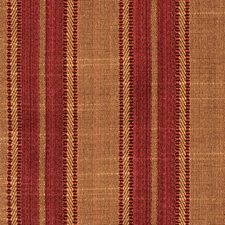 Burgundy Stripes Decorator Fabric by Trend