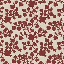 Red Floral Decorator Fabric by Trend