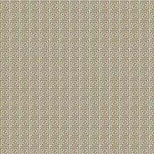 Latte Geometric Decorator Fabric by Trend