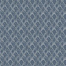 Cobalt Print Pattern Decorator Fabric by Fabricut