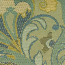 Blue/avocado Decorator Fabric by Duralee