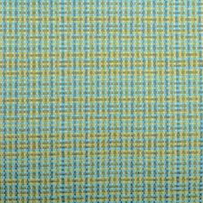 Aqua/Green Basketweave Decorator Fabric by Duralee