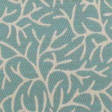 Aqua Leaf Decorator Fabric by Duralee