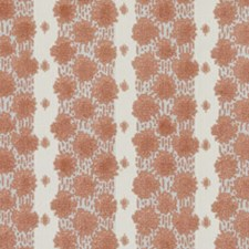 Coral Epingle Decorator Fabric by Duralee