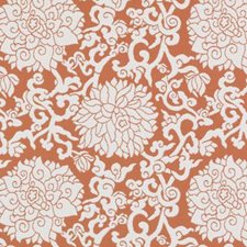 Orange Floral Medium Decorator Fabric by Duralee