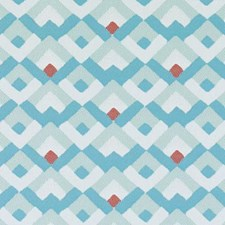 Aqua Diamond Decorator Fabric by Duralee