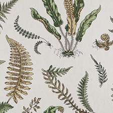 Greens On Off White Decorator Fabric by Scalamandre