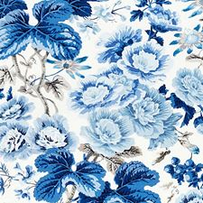 Porcelain Print Decorator Fabric by Scalamandre