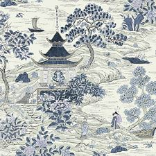 Evening Blue Decorator Fabric by Scalamandre