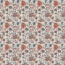 Exotic Sienna Floral Decorator Fabric by Fabricut