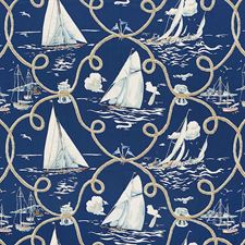 Navy Decorator Fabric by Schumacher
