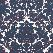 Prussian Blue/Rouge Decorator Fabric by Schumacher
