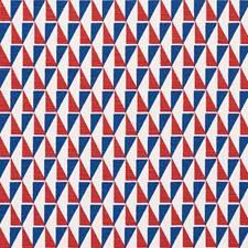 Red/Blue Decorator Fabric by Schumacher