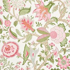 Pink/Leaf Decorator Fabric by Schumacher