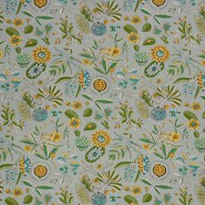 Grey/Ochre Decorator Fabric by Schumacher