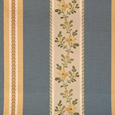Blue/gold Decorator Fabric by Highland Court