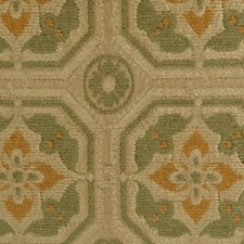 Yellow/sage Decorator Fabric by Highland Court