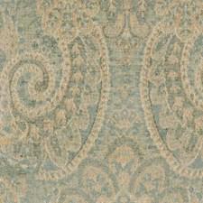 Aqua/gold Decorator Fabric by Highland Court