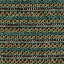 Turquoise/cocoa Decorator Fabric by Highland Court