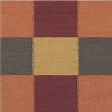 Rust/Burgundy/Red Check Decorator Fabric by Kravet
