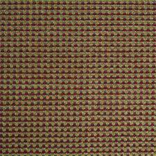 Green/Burgundy/Red Chenille Decorator Fabric by Kravet