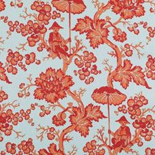 Red/Blue Floral Large Decorator Fabric by Duralee