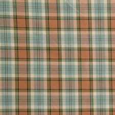 Aqua/Gi Plaid Decorator Fabric by Lee Jofa