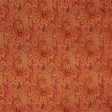 Coral Paisley Decorator Fabric by Lee Jofa