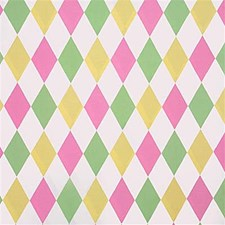 Pink/Lemon/Leaf Print Decorator Fabric by Lee Jofa