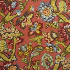Red Print Decorator Fabric by Lee Jofa