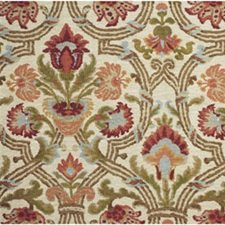 Red/Olive Botanical Decorator Fabric by Lee Jofa