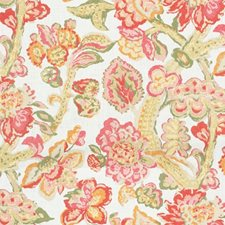Red/Pink Botanical Decorator Fabric by Lee Jofa