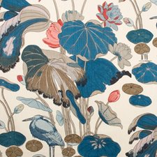 Teal Animal Decorator Fabric by Lee Jofa