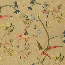 Multi Embroidery Decorator Fabric by Lee Jofa