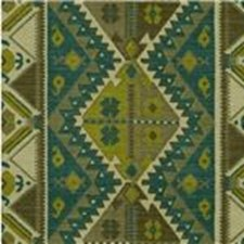 Teal/Sable Ethnic Decorator Fabric by Lee Jofa