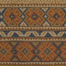 Cobalt/Red Ikat Decorator Fabric by Lee Jofa