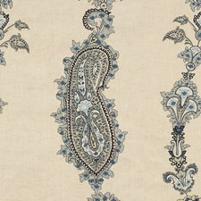 Blue Embroidery Decorator Fabric by Lee Jofa